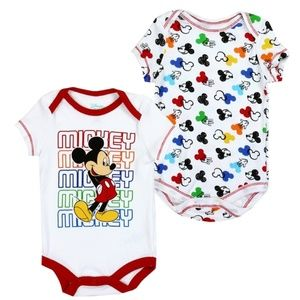 🎁✨Mickey Mouse Boys Newborn 2PC Bodysuit/Creeper